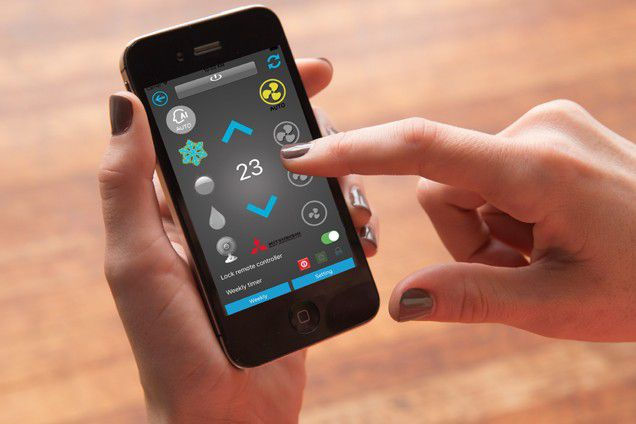 App MITSUBISHI-WIFI: le impostazioni del climatizzatore a portata di Smartphone